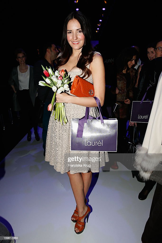 Johanna Klum attends the Laurel Autumn/Winter 2013/14 fashion show during Mercedes-Benz Fashion Week Berlin at Brandenburg Gate on January 17, 2013 in Berlin, Germany.
