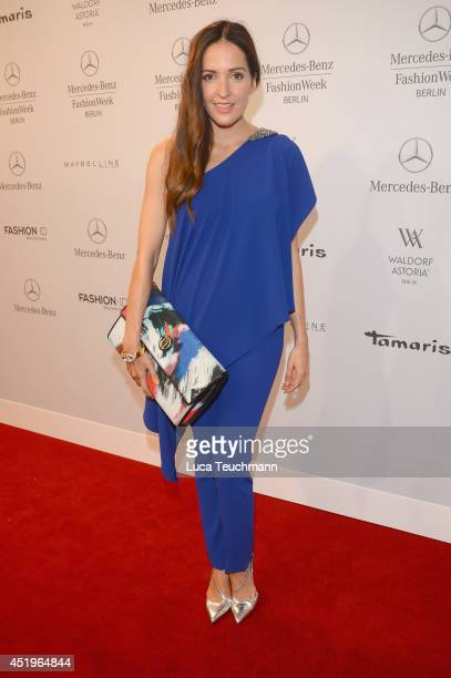 Johanna Klum attends the Laurel show during the MercedesBenz Fashion Week Spring/Summer 2015 at Erika Hess Eisstadion on July 10 2014 in Berlin...