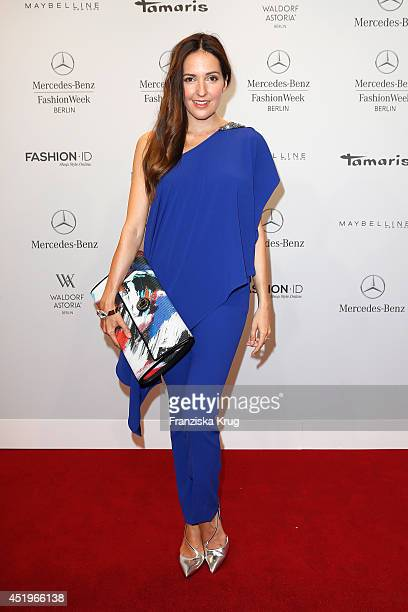 Johanna Klum attends the Laurel show during the MercedesBenz Fashion Week Spring/Summer 2015 at Erika Hess Eisstadion on July 10 2014 in Berlin...