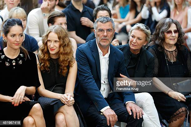 Johanna Klum Chiara Schoras Norbert Medus and Sabine Christiansen attend the Schumacher show during the MercedesBenz Fashion Week Spring/Summer 2015...