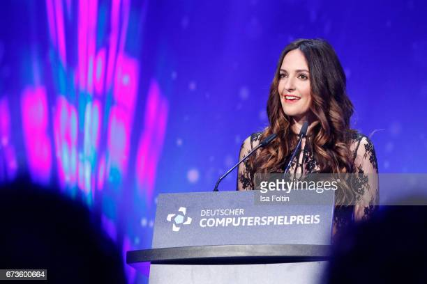 Johanna Klum during the German Computer Games Award 2017 at WECC on April 26 2017 in Berlin Germany