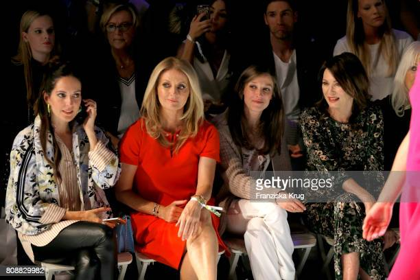 Johanna Klum Frauke Ludowig Alexandra Maria Lara and Iris Berben attend the Marc Cain Fashion Show Spring/Summer 2018 at ewerk on July 4 2017 in...