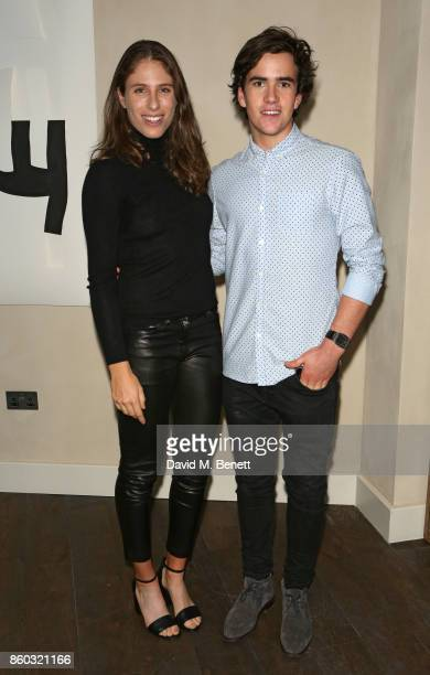 Johanna Konta and Charles Cooney attend the launch of The Great Eight Guacamoles London's first Guacamoles and Tequila Bar at Cantina Laredo on...