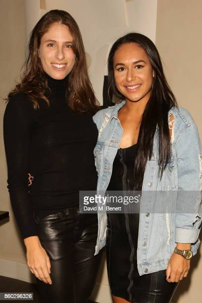 Johanna Konta and Heather Watson attends the launch of The Great Eight Guacamoles London's first Guacamoles and Tequila Bar at Cantina Laredo on...