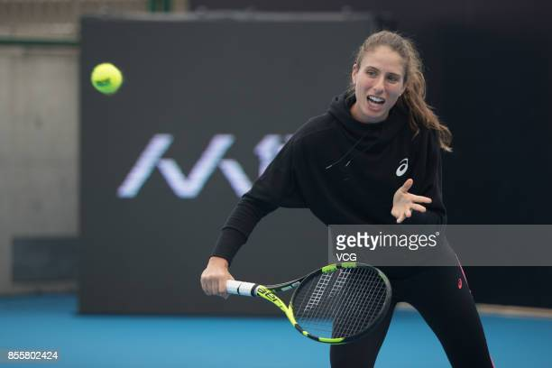 Johanna Konta of Great Britain attends the tennis event on day 1 of 2017 China Open at National Tennis Center on September 30 2017 in Beijing China