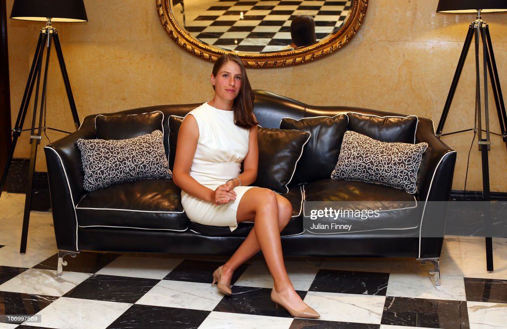 <a gi-track='captionPersonalityLinkClicked' href=/galleries/search?phrase=Johanna+Konta&family=editorial&specificpeople=4482643 ng-click='$event.stopPropagation()'>Johanna Konta</a> of Great Britain poses for a photo at the Pan Americano Hotel during previews ahead of the Fed Cup World Group Two Play-Offs between Argentina and Great Britain at Parque Roca on April 18, 2013 in Buenos Aires, Argentina.