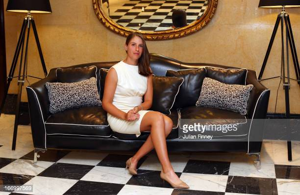 Johanna Konta of Great Britain poses for a photo at the Pan Americano Hotel during previews ahead of the Fed Cup World Group Two PlayOffs between...