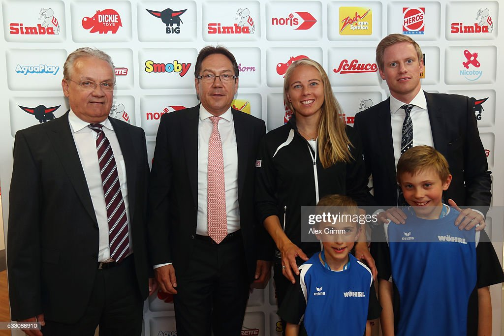 <a gi-track='captionPersonalityLinkClicked' href=/galleries/search?phrase=Johanna+Larsson&family=editorial&specificpeople=6727077 ng-click='$event.stopPropagation()'>Johanna Larsson</a> of Sweden visits the Simba Dickie Group showroom during day seven of the Nuernberger Versicherungscup 2016 on May 20, 2016 in Fuerth, Germany.
