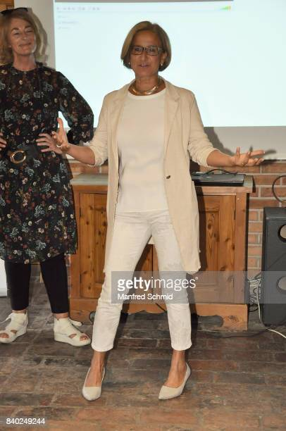 Johanna MiklLeitner attends a 'Soko Wien' photo call at Heuriger TratWieser on August 28 2017 in Klosterneuburg Austria