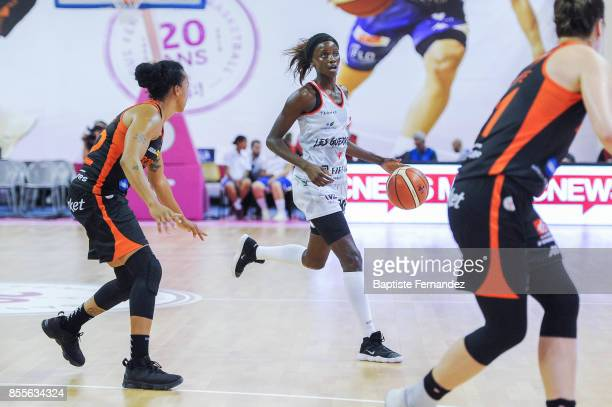 Johanne Gomis of Villeneuve d'Ascq during the Women's League match between Villeneuve d'Ascq and Bourges of the LFB Open 2017 on September 29 2017 in...