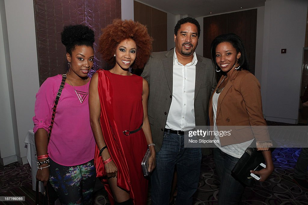 Johanne Wilson,Kristina Bingham,Rico James,Kalyn James attends at The Perry on December 5, 2012 in Miami Beach, Florida.