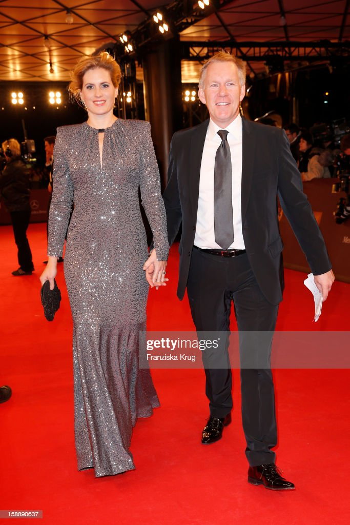 Johannes B. Kerner and Britta Becker-Kerner attend the 'BAMBI Awards 2012' at the Stadthalle Duesseldorf on November 22, 2012 in Duesseldorf, Germany.