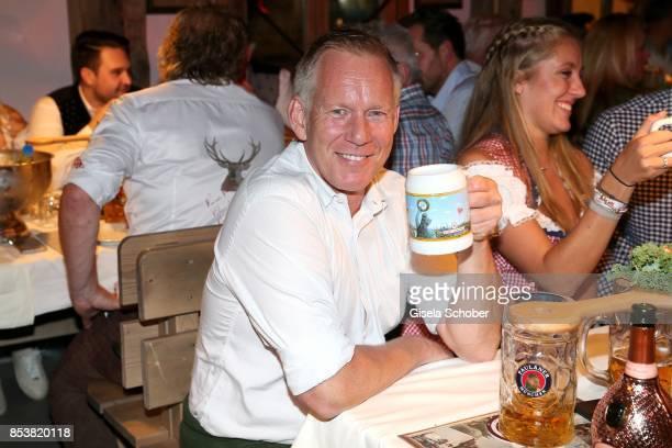 Johannes B Kerner during the Oktoberfest at Kaeferzelt at Theresienwiese on September 25 2017 in Munich Germany