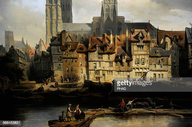 Johannes Bosboom Dutch painter The Quay de Paris in Rouen 1839 Rijksmuseum Amsterdam Holland