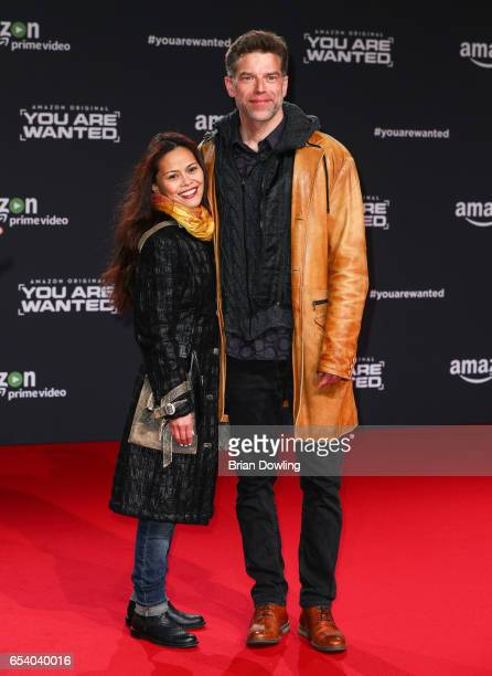 Johannes Brandrup and Mary Ann Zarate arrive at Amazon Prime Video's premiere of the series 'You are Wanted' at CineStar on March 15 2017 in Berlin...