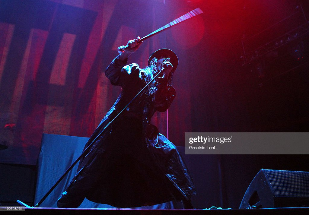 Johannes Eckerstrom of the Swedish band Avatar performs supporting Avenged Sevenfold at the Ziggo Dome on November 19, 2013 in Amsterdam, Netherlands.