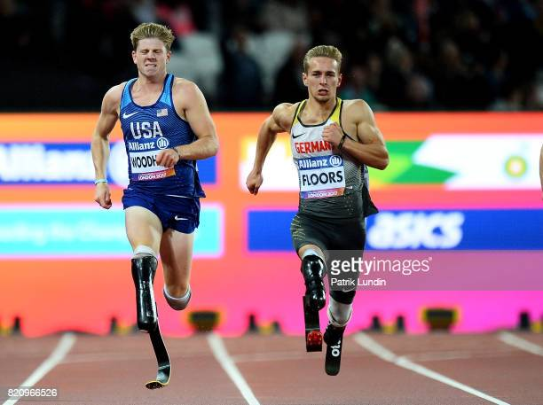 Johannes Floors of Germany in action during the final of the mens 200m T43 during day nine of the IPC World ParaAthletics Championships 2017 at...