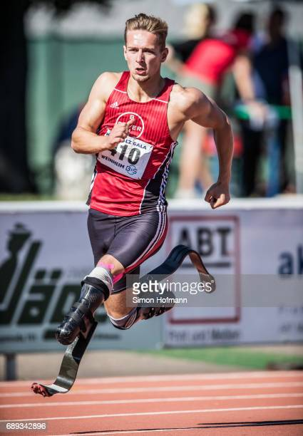 Johannes Floors of TSV Bayer 04 Leverkusen competes in the 400m during the BS KurpfalzGala at SeppHerbergerStadion on May 27 2017 in Weinheim Germany