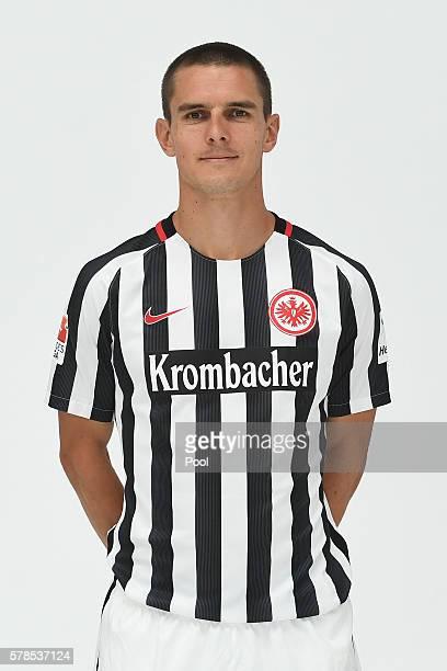 Johannes Flum poses during the Eintracht Frankfurt Team Presentation on July 21 2016 in Frankfurt am Main Germany