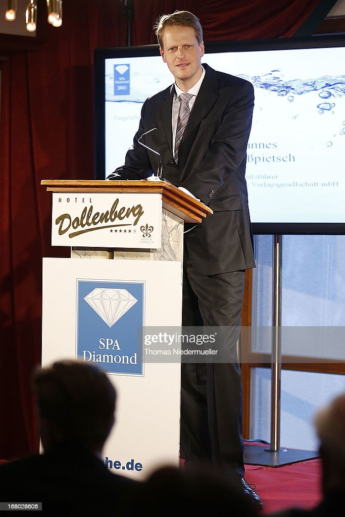 Johannes Grosspietsch talks during the Spa Diamond Award 2013 on May 4, 2013 in Bad Peterstal-Griesbach, Germany.