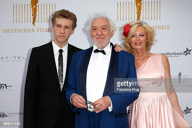Johannes Hallervorden Dieter Hallervorden and Claudia Neidig attend the Lola German Film Award 2014 at Tempodrom on May 09 2014 in Berlin Germany