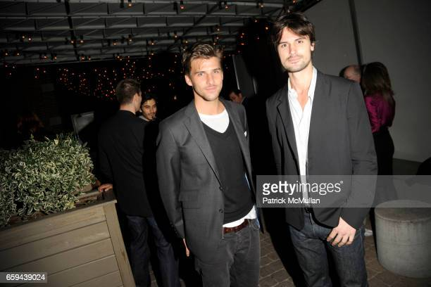 Johannes Huebl and Kane Manera attend THE CINEMA SOCIETY LINKS OF LONDON host the after party for 'THE INVENTION OF LYING' at Soho Grand Hotel on...