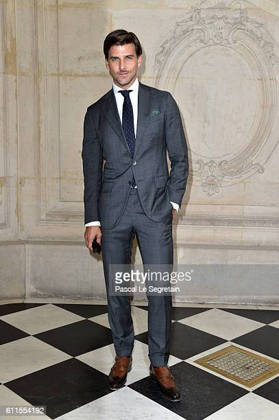 Johannes Huebl attends the Christian Dior show of the Paris Fashion Week Womenswear Spring/Summer 2017 on September 30 2016 in Paris France