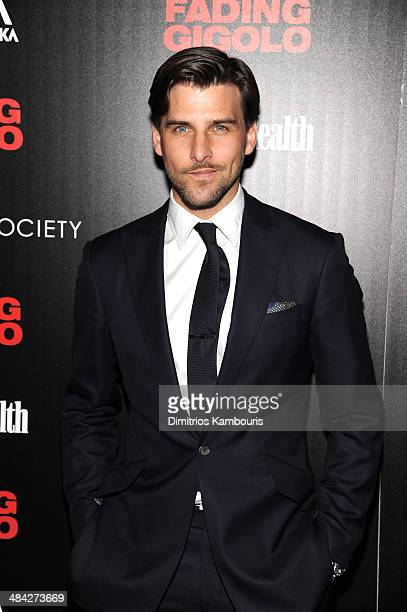 Johannes Huebl attends The Cinema Society Women's Health screening of Millennium Entertainment's 'Fading Gigolo'at SVA Theater on April 11 2014 in...