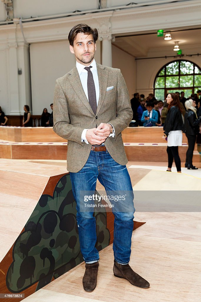 Johannes Huebl attends the Coach show during The London Collections Men SS16 at Lindley Hall on June 13 2015 in London England