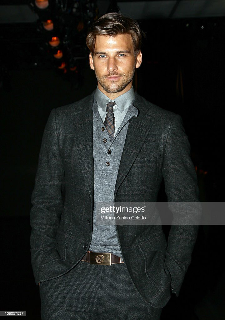 Johannes Huebl attends the Ermenegildo Zegna Milan Fashion Week Menswear A/W 2011 show on January 15, 2011 in Milan, Italy.