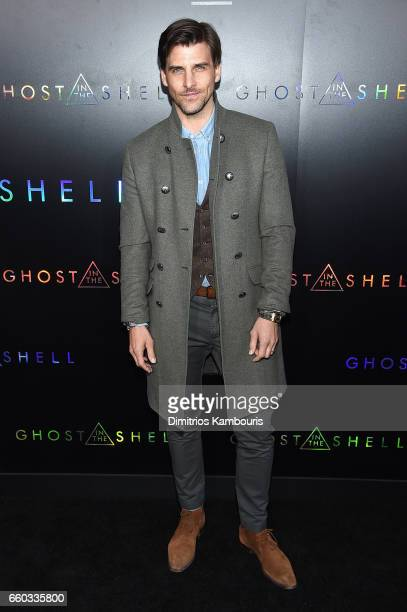 Johannes Huebl attends the 'Ghost In The Shell' premiere hosted by Paramount Pictures DreamWorks Pictures at AMC Lincoln Square Theater on March 29...