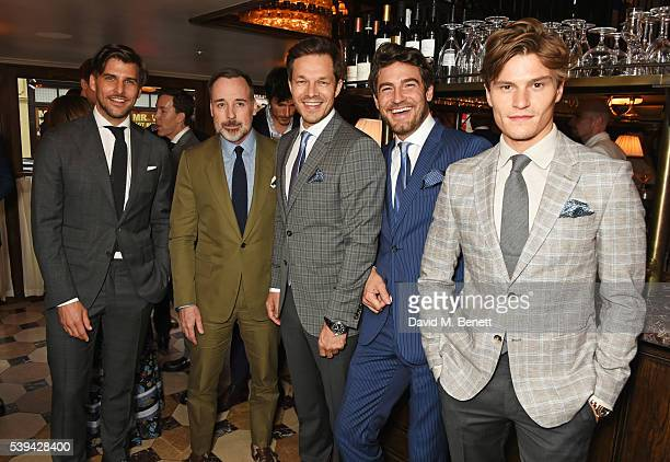 Johannes Huebl David Furnish Paul Sculfor Robert Konjic and Oliver Cheshire attend a dinner hosted by Tommy Hilfiger and Dylan Jones to celebrate...