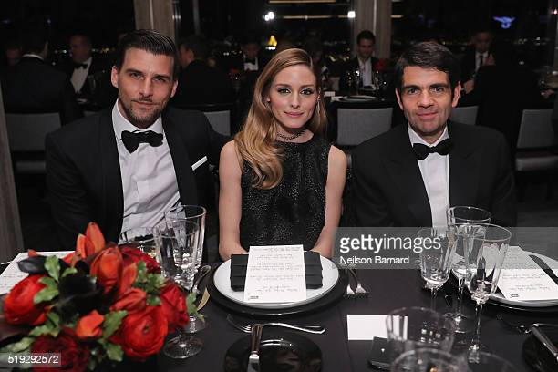 Johannes Huebl Olivia Palermo and Montblanc CEO Jérôme Lambert attend the Montblanc 110 Year Anniversary Gala Dinner on April 5 2016 in New York City