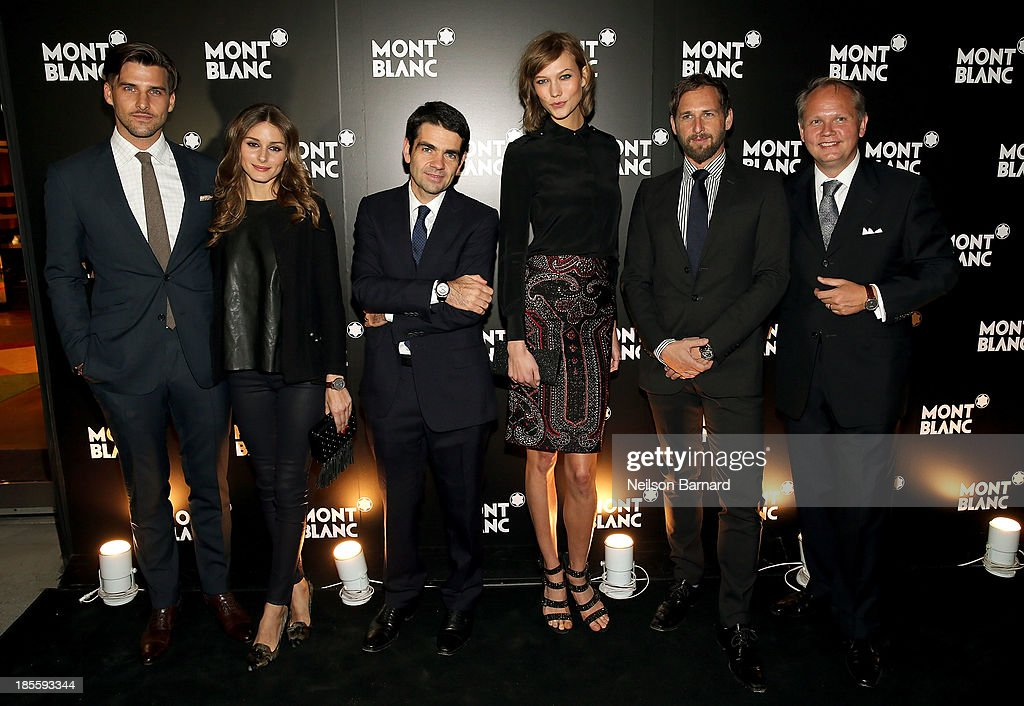 Johannes Huebl Olivia Palermo CEO at Montblanc Jerome Lambert model Karlie Kloss actor Josh Lucas and President CEO at Montblanc North America...