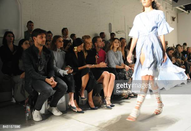 Johannes Huebl Olivia Palermo Petra Nemcova Simon Huck and Jamie Chung attend Jonathan Simkhai fashion show during New York Fashion Week The Shows at...