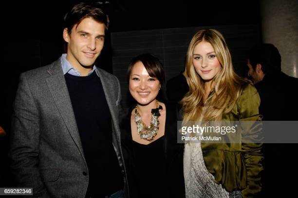Johannes Huebl Susan Woo and Olivia Palermo attend SUSAN WOO FALL 2009 COLLECTION and LAUNCH PARTY at Above Allen on February 10 2009 in New York City