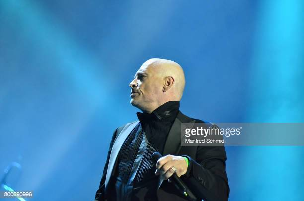 Johannes Krisch performs on stage a 'Falco Tribute' during the Day 2 at Donauinselfest 2017 at Donauinsel on June 24 2017 in Vienna Austria