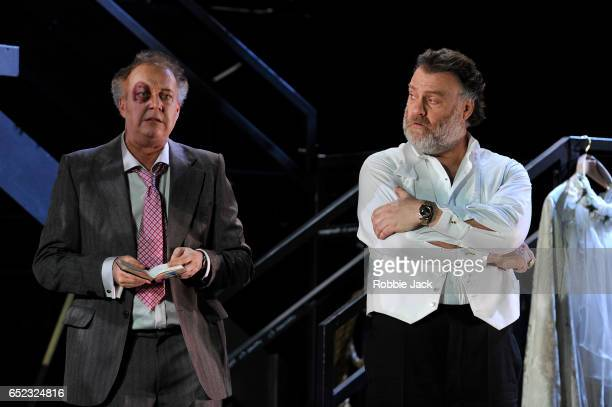 Johannes Martin Kranzle as Sixtus Beckmesser and Bryn Terfel as Hans Sachs in the Royal Opera's production of Richard Wagner's Die Meistersinger von...