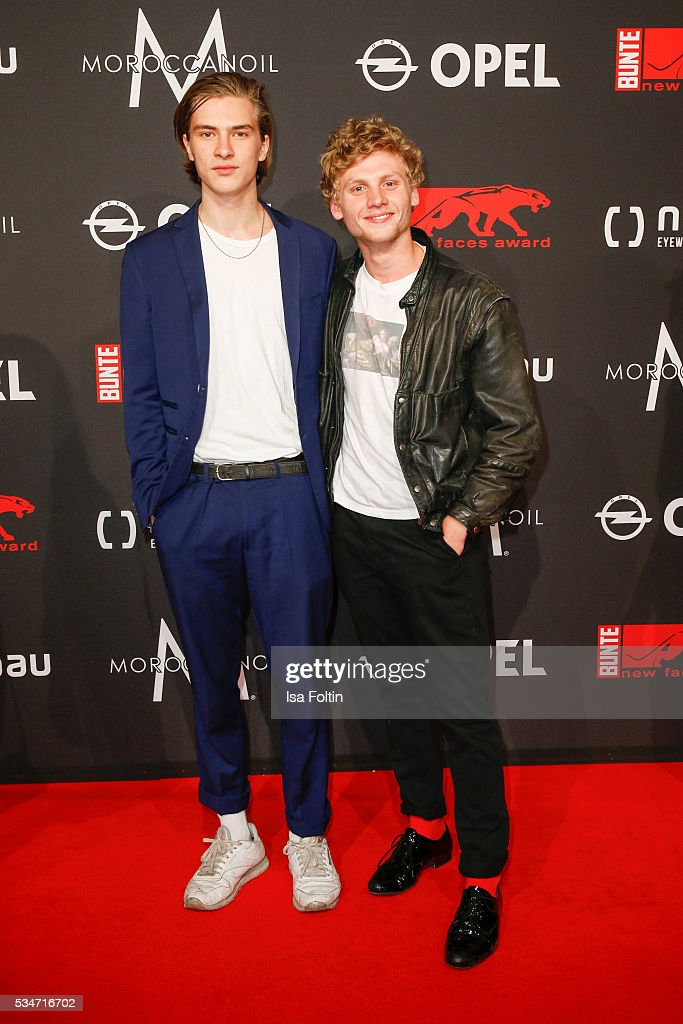 Johannes Nussbaum (R) and guest attend the New Faces Award Film 2016 at ewerk on May 26, 2016 in Berlin, Germany.