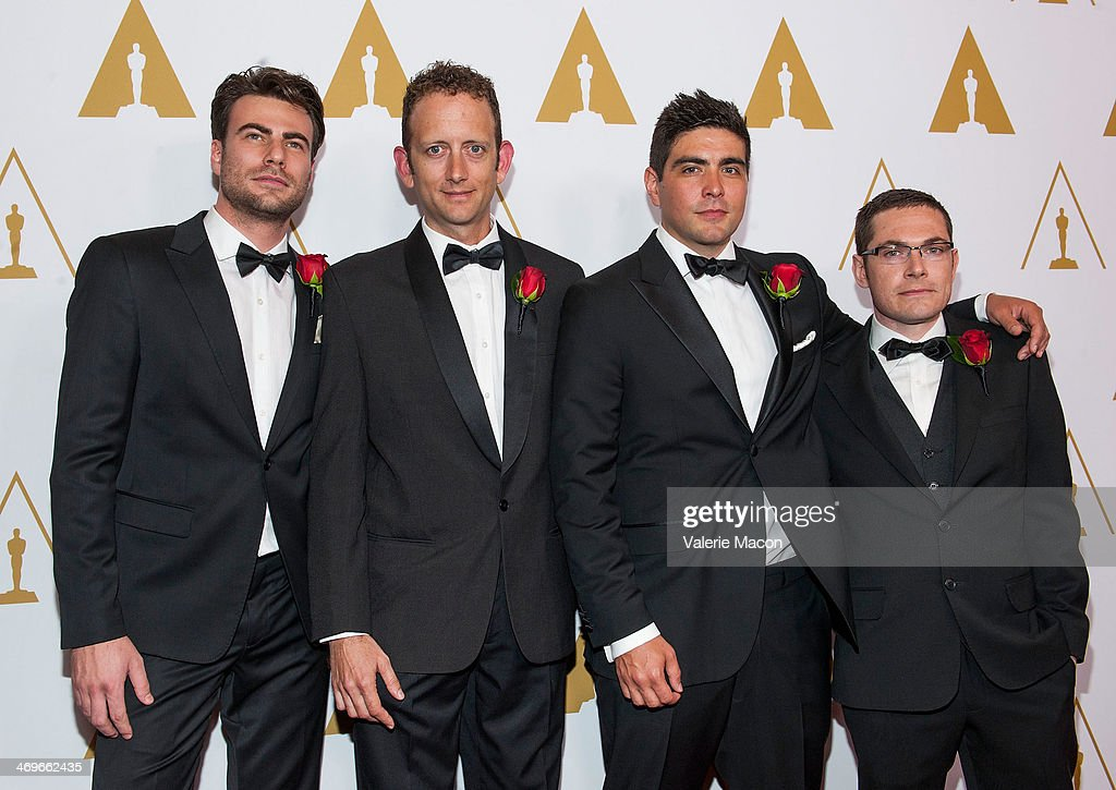 Johannes Saam, Chris Cooper, Areito Echevarria and Colin Doncaster arrive at the Academy Of Motion Picture Arts And Sciences' Scientific And Technical Awards Ceremony at Beverly Hills Hotel on February 15, 2014 in Beverly Hills, California.