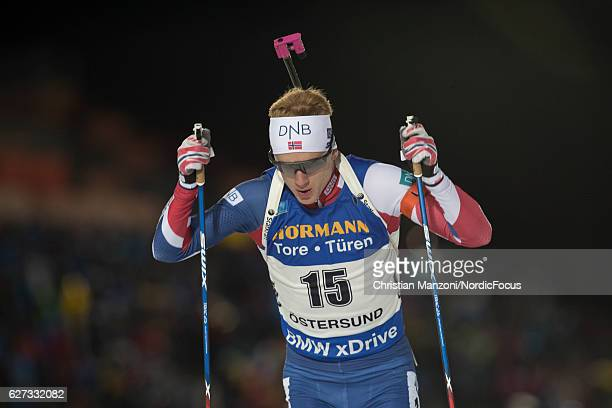Johannes Thingnes Boe of Norway competes during the 20 km men's individual on December 1 2016 in Ostersund Sweden