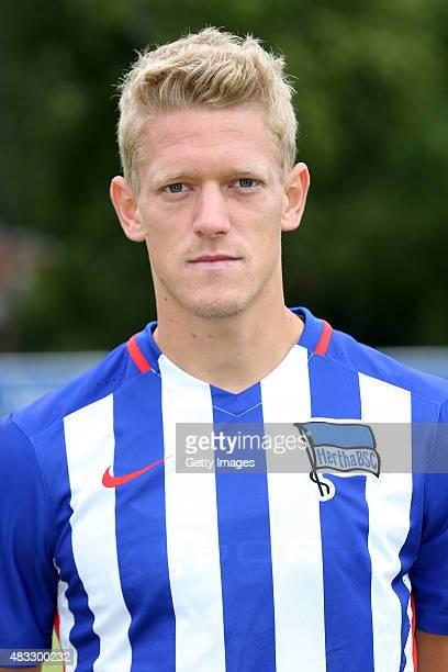 Johannes van den Bergh poses during the Hertha BSC team presentation on July 10 2015 in Berlin Germany