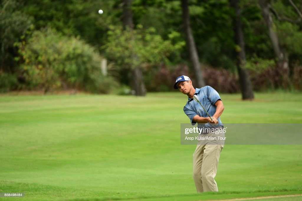 Johannes Veerman of USA during round three of the Yeangder Tournament Players Championship at Linkou lnternational Golf and Country Club on October 7, 2017 in Taipei, Taiwan.