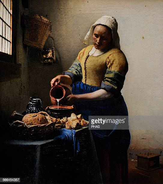 Johannes Vermeer Dutch painter The Milkmaid c 1660 Rijskmuseum Amsterdam Netherlands