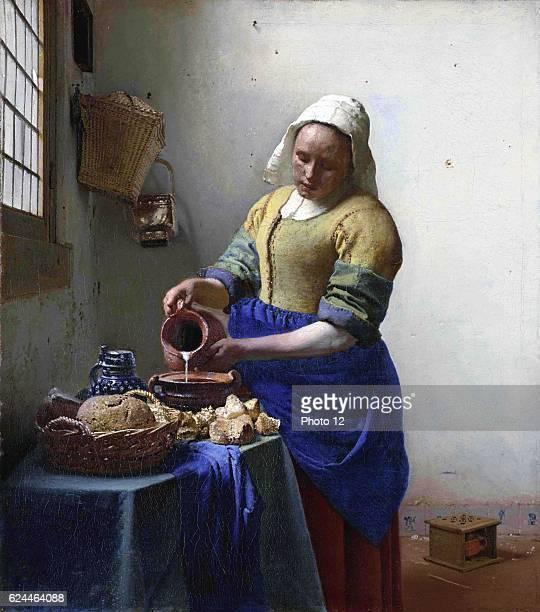 Johannes Vermeer Dutch school The Milkmaid Oil on canvas