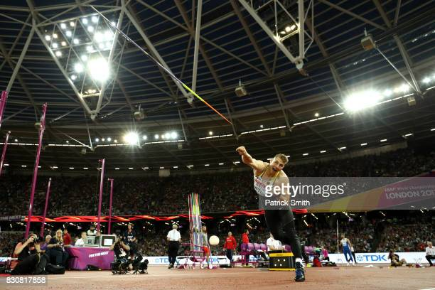 Johannes Vetter of Germany competes during the Men's Javelin Throw final during day nine of the 16th IAAF World Athletics Championships London 2017...