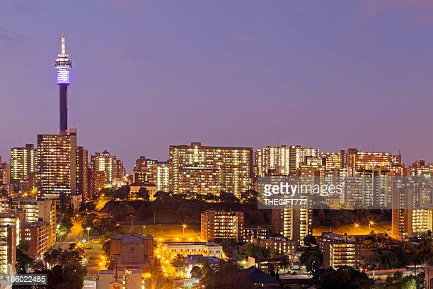 Johannesburg City evening in Hillbrow
