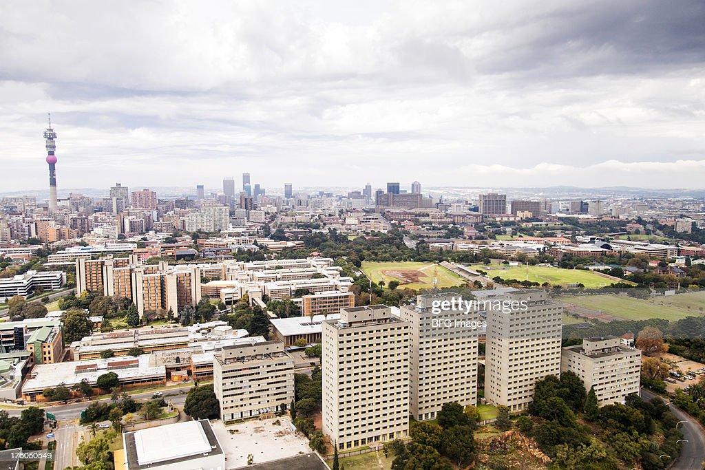 Johannesburg skyline, Gauteng Province, South Africa : Stock Photo