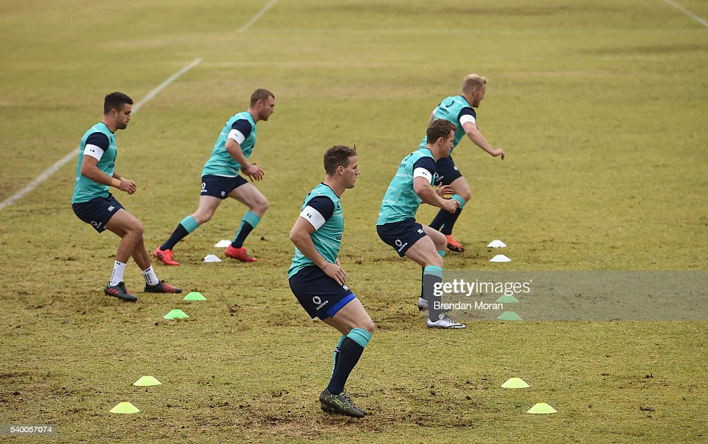 Johannesburg South Africa 14 June 2016 Craig Gilroy of Ireland centre during squad training at St David Marist School in Sandton Johannesburg South...