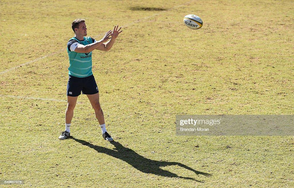 Johannesburg South Africa 16 June 2016 Craig Gilroy of Ireland during squad training at St David Marist School in Johannesburg South Africa